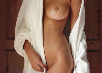 Rhian Sugden Nude Robe