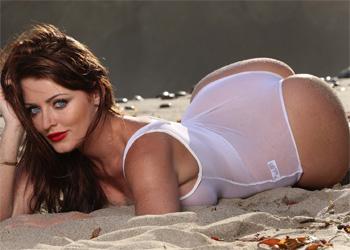 Sophie Dee Sheer White Bikini