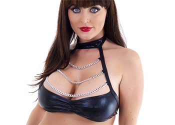 Sophie Dee Black Satin