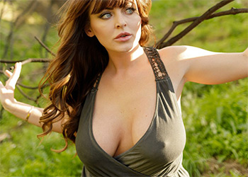 Sophie Dee bewbs in the woods