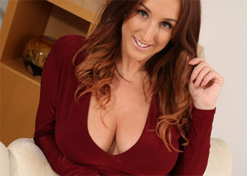 Stacey Poole burgundy dress