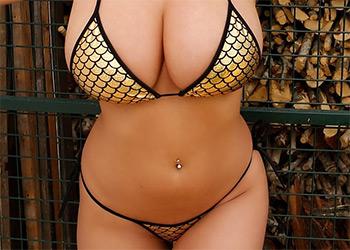 Stacey Poole string bikini pinupfiles