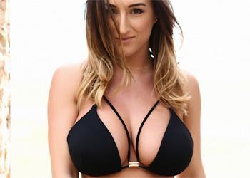 Stacey Poole Black Bikini