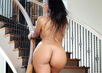 Tiara on the stairs