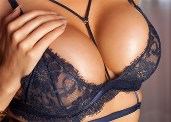 Yasmin lace lingerie tits